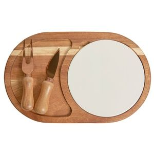 NWT Fab Fit Fun Twine Cheese Board with Plate